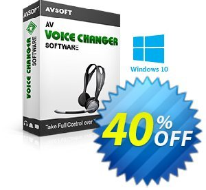 AV Voice Changer Software 7.0 Coupon, discount Av voice changer discount Kick Start 2020. Promotion: 20% AV Voice Changer Software Discount AVSO-30OFFALL; AVSO-MC5H-BLHP