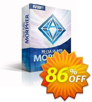 Media Player Morpher PLUS 6.2 Coupon, discount Media Player Morpher Audio4fun offer 85% OFF. Promotion: Audio4fun Media player morpher Discount AVSO-MC5H-BLHP