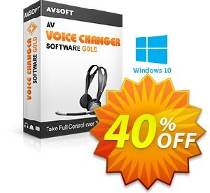 Voice Changer Software coupon -  Gold Coupon discount 20% Voice changer gold discount - AV Voice Changer Software Gold Discount 20% AVSO-MC5H-BLHP