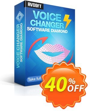 AV Voice Changer Software Diamond 9.5 discount coupon 40% OFF - VCSD - Excellent offer code of AV Voice Changer Software Diamond 2021