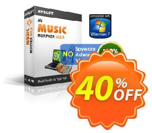 AV Music Morpher Gold Coupon discount Audio4fun Music morpher discount 30% OFF - AV Music Morpher Gold Discount, 30% AVSO-30OFFALL - AVSO-MC5H-BLHP