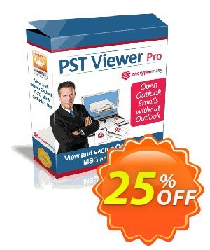 PstViewer Pro Coupon, discount Encryptomatic discount (6573). Promotion: Encryptomatic coupons (6573)