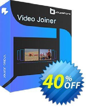 JOYOshare Video Joiner Single License 프로모션 코드 40% OFF JOYOshare Video Joiner Single License, verified 프로모션: Fearsome sales code of JOYOshare Video Joiner Single License, tested & approved