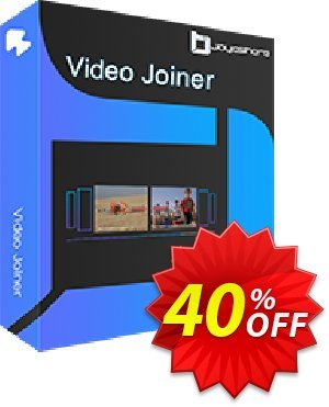 JOYOshare Video Joiner Family License 優惠券,折扣碼 40% OFF JOYOshare Video Joiner Family License, verified,促銷代碼: Fearsome sales code of JOYOshare Video Joiner Family License, tested & approved