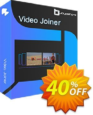 JOYOshare Video Joiner Unlimited License discount coupon 40% OFF JOYOshare Video Joiner Unlimited License, verified - Fearsome sales code of JOYOshare Video Joiner Unlimited License, tested & approved