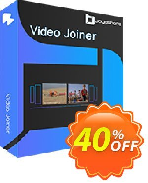 JOYOshare Video Joiner for Mac Single License discount coupon 40% OFF JOYOshare Video Joiner for Mac Single License, verified - Fearsome sales code of JOYOshare Video Joiner for Mac Single License, tested & approved