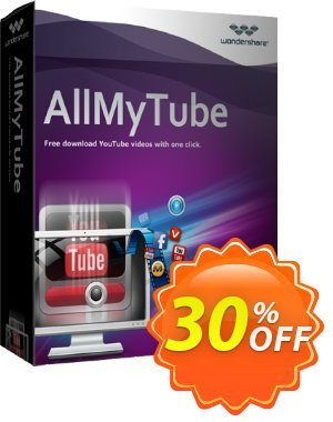 Wondershare AllMyTube discount coupon 30% Wondershare Software (8799) -