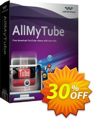 Wondershare AllMyTube for Windows (Lifetime, 1 Year, Family license) discount coupon 30% OFF Wondershare AllMyTube for Windows (Lifetime, 1 Year, Family license), verified - Wondrous discounts code of Wondershare AllMyTube for Windows (Lifetime, 1 Year, Family license), tested & approved