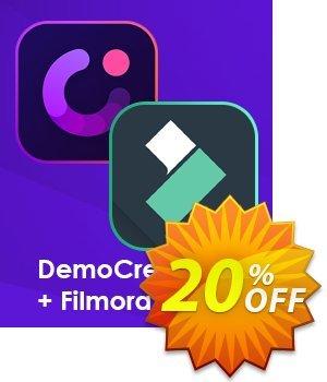 Bundle: Wondershare DemoCreator + Filmora Coupon discount 35% OFF Bundle: Wondershare DemoCreator + Filmora, verified