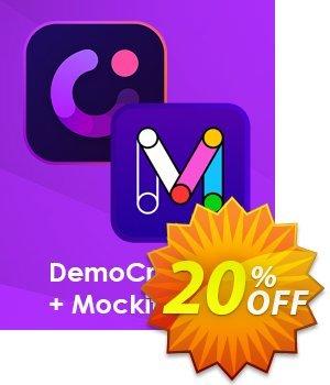 Bundle: Wondershare DemoCreator + Mockitt discount coupon 20% OFF Bundle: Wondershare DemoCreator + Mockitt, verified - Wondrous discounts code of Bundle: Wondershare DemoCreator + Mockitt, tested & approved