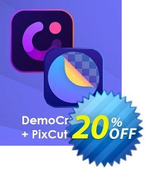 Bundle: Wondershare DemoCreator + PixCut discount coupon 20% OFF Bundle: Wondershare DemoCreator + PixCut, verified - Wondrous discounts code of Bundle: Wondershare DemoCreator + PixCut, tested & approved