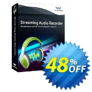 Wondershare Streaming Audio Recorder for Windows Coupon discount Wondershare Streaming Audio Recorder special discounts code 2020 - SAR- 30% OFF