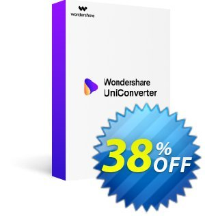 Wondershare UniConverter推進 32% OFF Wondershare UniConverter Dec 2020
