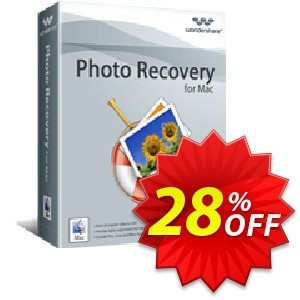 Wondershare Photo Recovery for Mac promo sales 30% Wondershare Software (8799). Promotion: