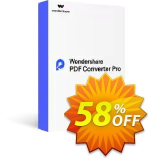 Wondershare PDF Converter Pro (Lifetime) discount coupon Back to School-30% OFF PDF editing tool -