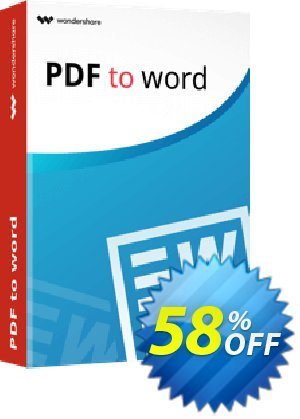 Wondershare PDF to Word Converter for Mac 프로모션 코드 Winter Sale 30% Off For PDF Software 프로모션: