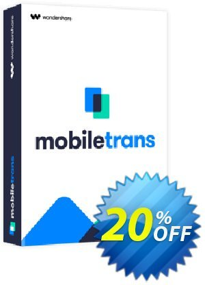 Wondershare MobileTrans for Mac (Lifetime License) discount coupon MT 30% OFF - Marvelous promotions code of MobileTrans for Mac (Lifetime License) 2020
