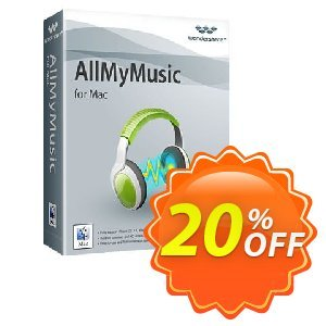 Wondershare AllMyMusic for Mac offering sales 30% Wondershare Software (8799). Promotion: