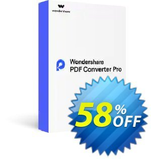 Wondershare PDF Converter PRO discount coupon Back to School-30% OFF PDF editing tool -