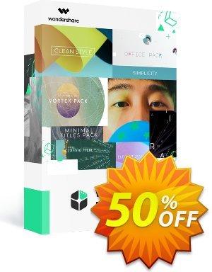 Wondershare Filmstock Coupon, discount 50% OFF Wondershare Filmstock, verified. Promotion: Wondrous discounts code of Wondershare Filmstock, tested & approved