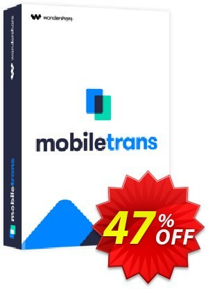 Wondershare MobileTrans offering sales 30% Wondershare Software (8799). Promotion: