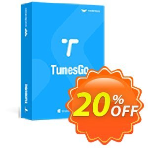 Wondershare TunesGo for iOS & Android (MAC) Coupon discount 30% Wondershare Software (8799). Promotion: 30% Main coupon for all TunesGo MAC - WONDERSHARE, TunesGo for MAC
