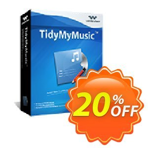 Wondershare Tidymymusic offering sales 30% Wondershare Software (8799). Promotion:
