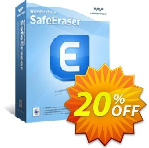 Wondershare SafeEraser for Mac 優惠券,折扣碼 30% Wondershare Software (8799),促銷代碼: