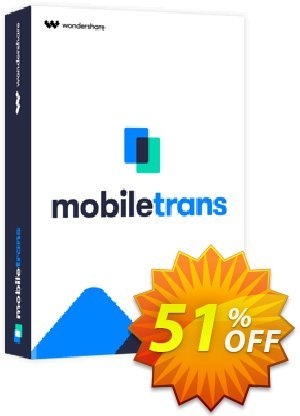 Wondershare MobileTrans for Mac  (Full Features) discount coupon 51% OFF Wondershare MobileTrans for Mac (Special Price), verified - Wondrous discounts code of Wondershare MobileTrans for Mac (Special Price), tested & approved