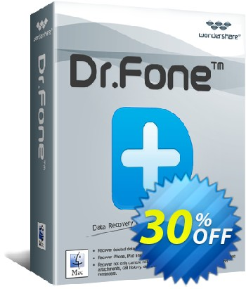 Dr.Fone - iOS System Recovery (Mac) Coupon, discount 30% Wondershare Software (8799). Promotion: 30% Wondershare Software (8799)