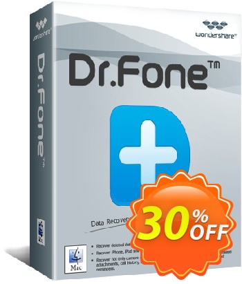 Dr.Fone (Mac) - iOS Data Backup & Restore Coupon, discount 30% Wondershare Software (8799). Promotion: 30% Wondershare Software (8799)