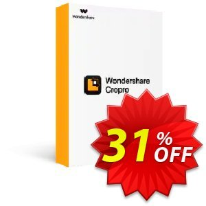 Wondershare Cropro Professional for MAC Coupon discount 31% OFF Wondershare Cropro Professional for MAC, verified. Promotion: Wondrous discounts code of Wondershare Cropro Professional for MAC, tested & approved