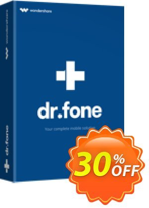 Wondershare Dr.Fone for iOS 優惠券,折扣碼 30% Wondershare Software (8799),促銷代碼: Wondershare Dr.Fone for iOS Full Suite coupon