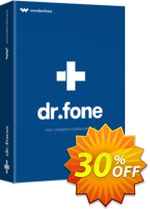 dr.fone - Recover (iOS) 優惠券,折扣碼 30% Wondershare Software (8799),促銷代碼: 30% Wondershare Software (8799)