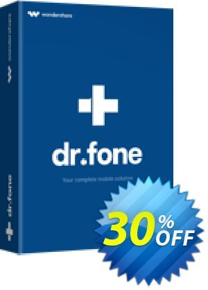 dr.fone (Mac) - Recover (iOS) Coupon, discount Dr.fone all site promotion-30% off. Promotion: 30% Wondershare Software (8799)