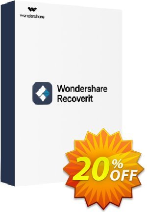 Wondershare Recoverit (1 Month License) discount coupon 20% OFF Wondershare Recoverit (1 Month License), verified - Wondrous discounts code of Wondershare Recoverit (1 Month License), tested & approved