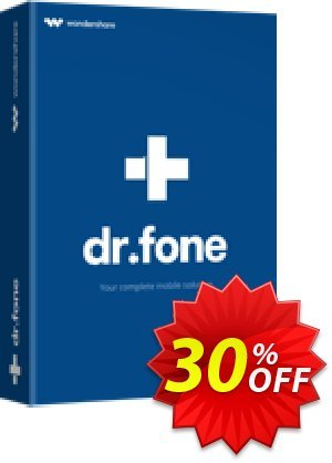 dr.fone - Restore Social App discount coupon Dr.fone all site promotion-30% off - 30% Wondershare Software (8799)