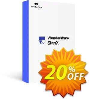 Wondershare SignX discount coupon Wondershare SignX staggering offer code 2020 - 30% Wondershare Software (8799)