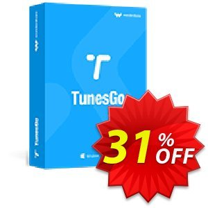 TunesGo Mac (Suite) Lifetime License Coupon discount Wondershare TunesGo (Mac) dreaded promotions code 2020. Promotion: dreaded promotions code of Wondershare TunesGo (Mac) 2020