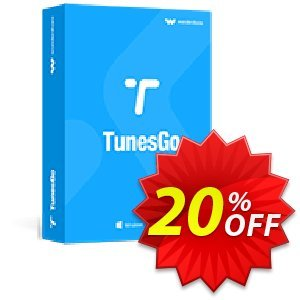 TunesGo (Suite) Lifetime License 優惠券,折扣碼 Wondershare TunesGo awful discount code 2020,促銷代碼: awful discount code of Wondershare TunesGo 2020