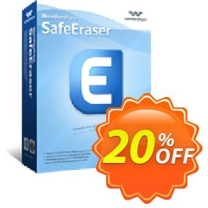 Wondershare SafeEraser (Business License) Coupon, discount Wondershare SafeEraser for Windows(Business License) excellent discounts code 2020. Promotion: excellent discounts code of Wondershare SafeEraser for Windows(Business License) 2020