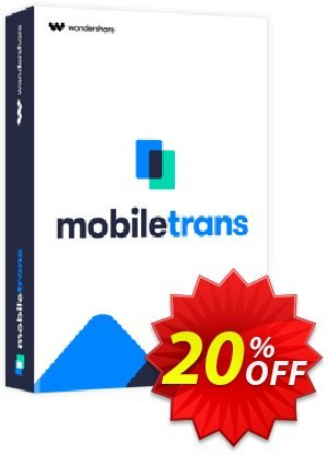 Wondershare MobileTrans for Mac (Business License) Coupon discount MT 30% OFF. Promotion: imposing promo code of Wondershare MobileTrans for Mac Business License 2020