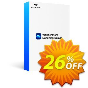 Wondershare Document Cloud Annually discount coupon 26% OFF Wondershare Document Cloud Annually, verified - Wondrous discounts code of Wondershare Document Cloud Annually, tested & approved