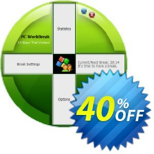 PC WorkBreak Home License 優惠券,折扣碼 40% OFF PC WorkBreak Personal License, verified,促銷代碼: Awesome offer code of PC WorkBreak Personal License, tested & approved