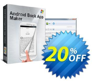 Android Book App Maker Coupon, discount 20% IVS and A-PDF. Promotion: 20% IVS and A-PDF