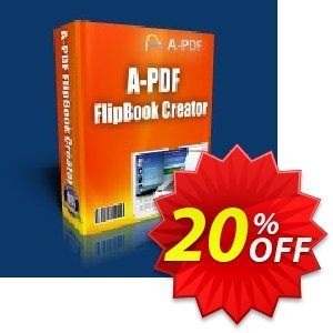 A-PDF Word To Flipbook discount coupon A-PDF Word To Flipbook Coupon (9891) - 20% IVS and A-PDF