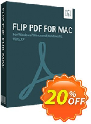 Flip PDF for Mac Coupon, discount 20% IVS and A-PDF. Promotion: Coupon promo IVS and A-PDF