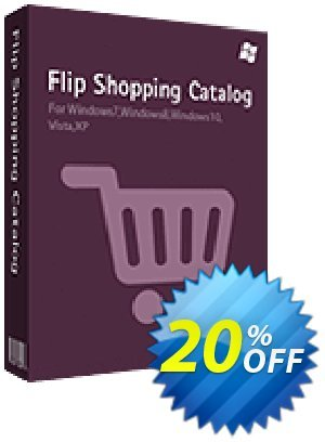 Flip Shopping Catalog Coupon, discount 20% IVS and A-PDF. Promotion: 20% IVS and A-PDF