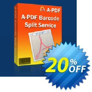 A-PDF Barcode Split Service Coupon, discount 20% IVS and A-PDF. Promotion: 20% IVS and A-PDF