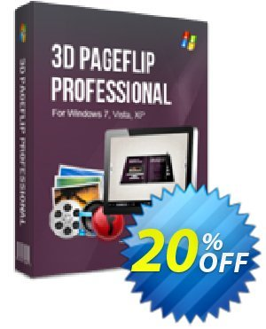 3D PageFlip Professional Coupon, discount 20% IVS and A-PDF. Promotion: 20% IVS and A-PDF